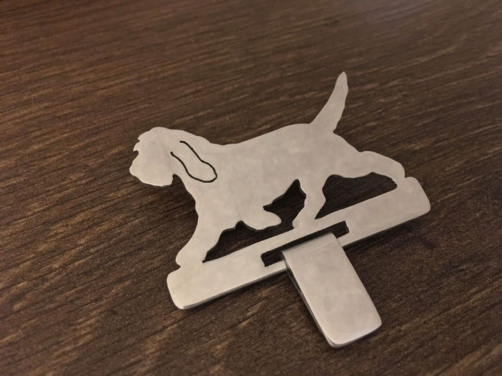 grand basset griffon vendeen (gbgv) Show ring clip Handmade by saw piercing